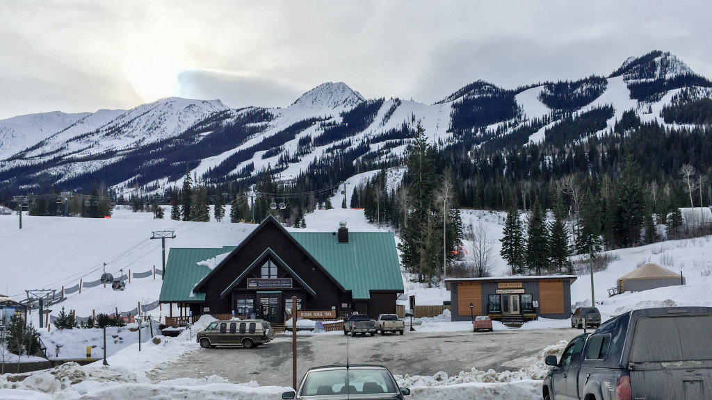 Kicking Horse: View from the parking lot